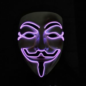 V For Vendetta Mask Purple LED