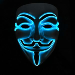 V For Vendetta Mask Blue LED