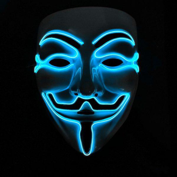 V For Vendetta Mask Blue LED