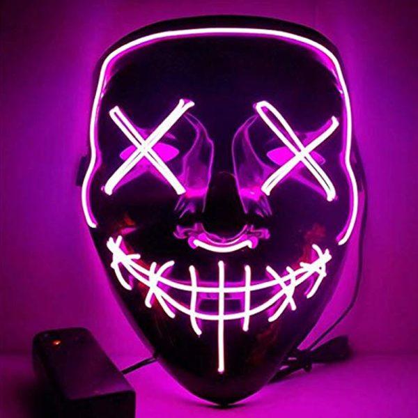 The Purge Mask LED Pink