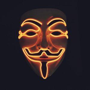 V For Vendetta Mask Orange LED