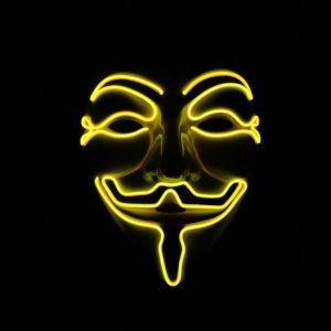 V For Vendetta Mask Yellow LED