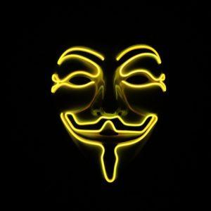 V For Vendetta Mask Yellow LED