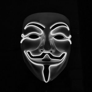 V For Vendetta Mask White LED