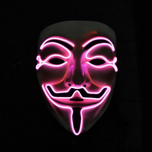 V For Vendetta Mask Pink LED