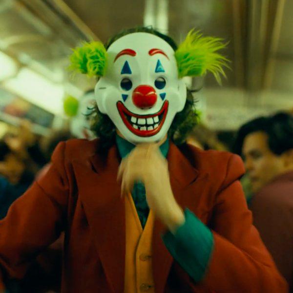 Joker Mask 2019 in the metro