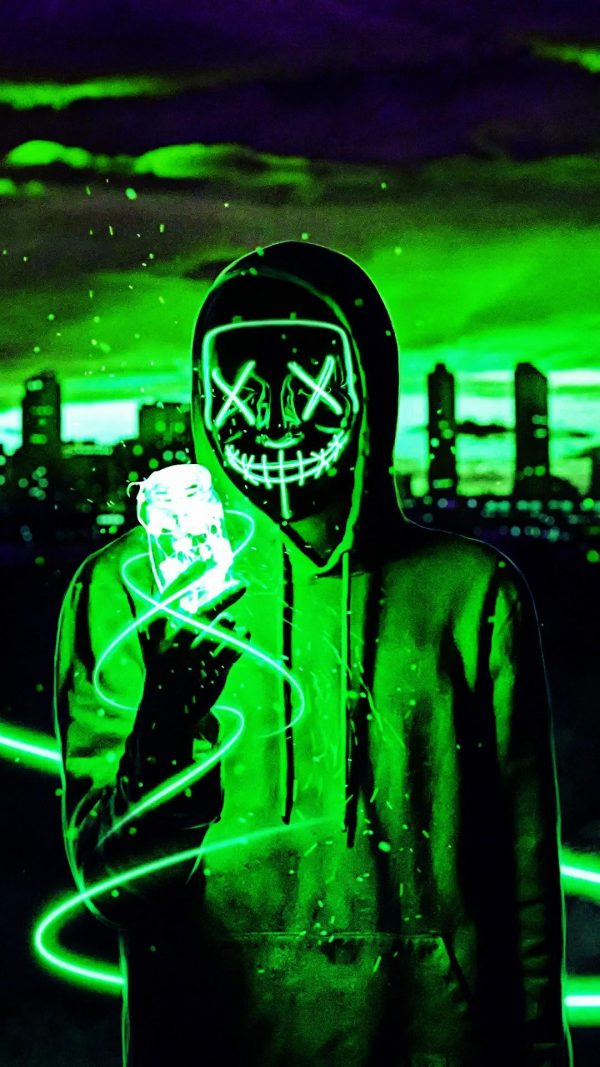 LED Purge Mask Green lights up