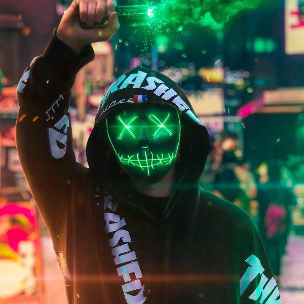 LED Purge Mask that light up green