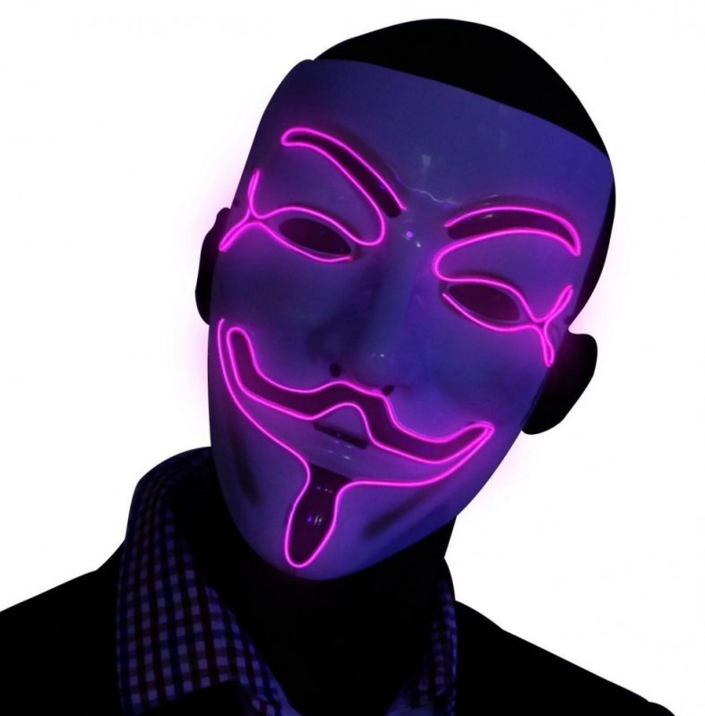 Led purple v for vendetta mask cheap