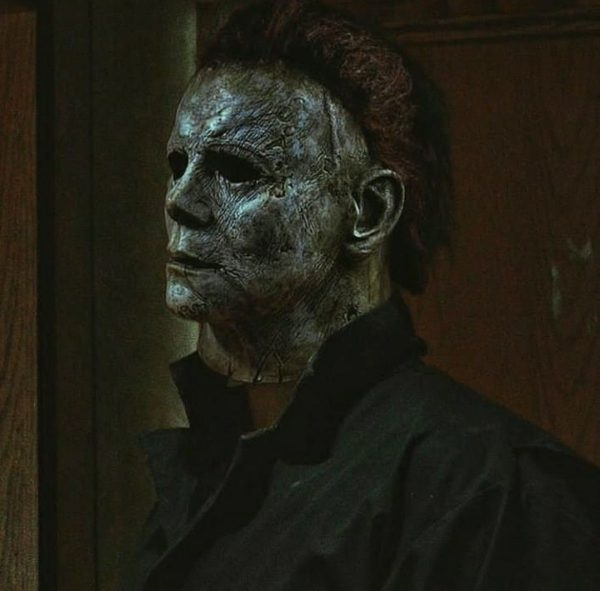 Michael Myers with a dark mask