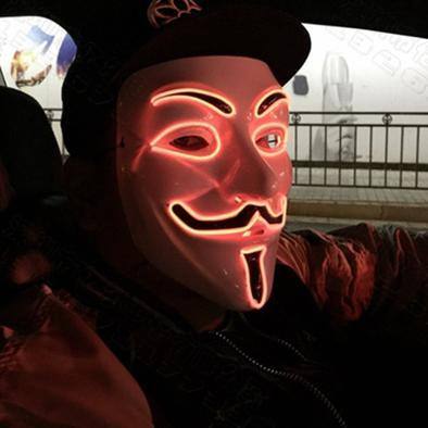 V For Vendetta Mask Red LED that light up