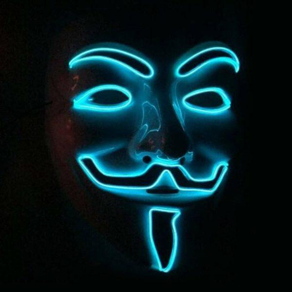 V For Vendetta Mask blue light