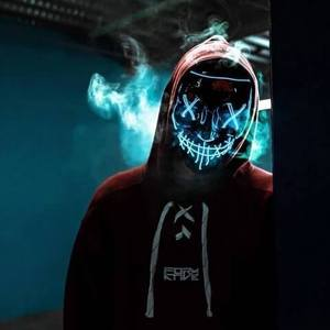 blue led purge mask that lights up with neons