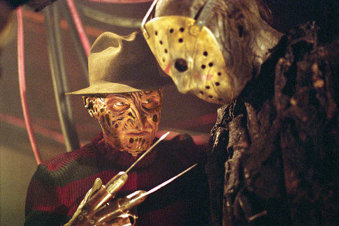 freddy and jason yellow mask fight scene