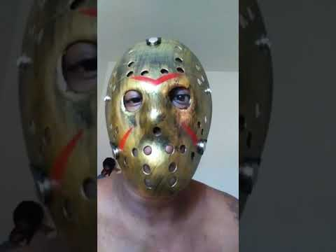 golden jason voorhees mask