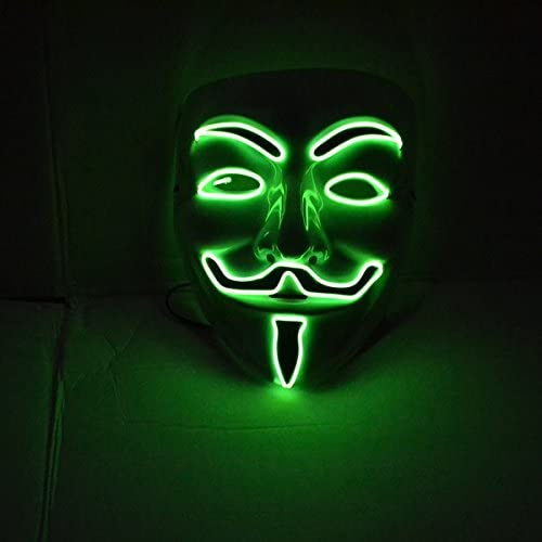 green led v vendetta mask