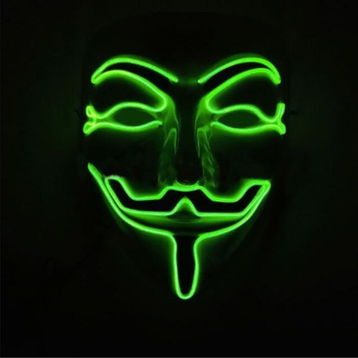 green led vendetta mask