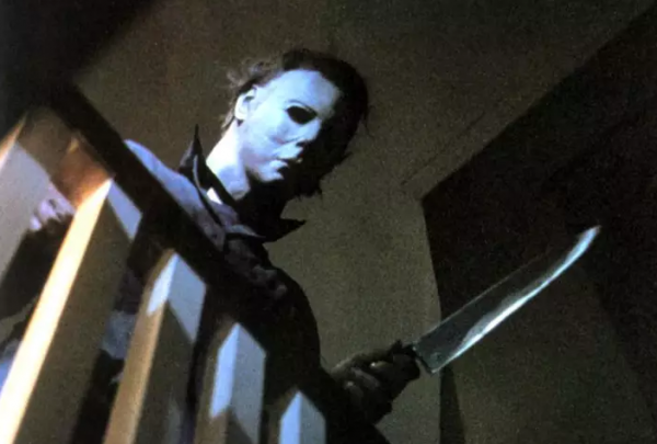 halloween 1978 michael myers mask with a knife