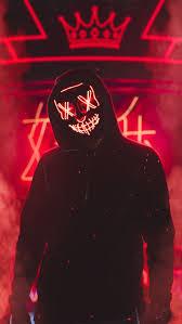 halloween led light up purge mask red