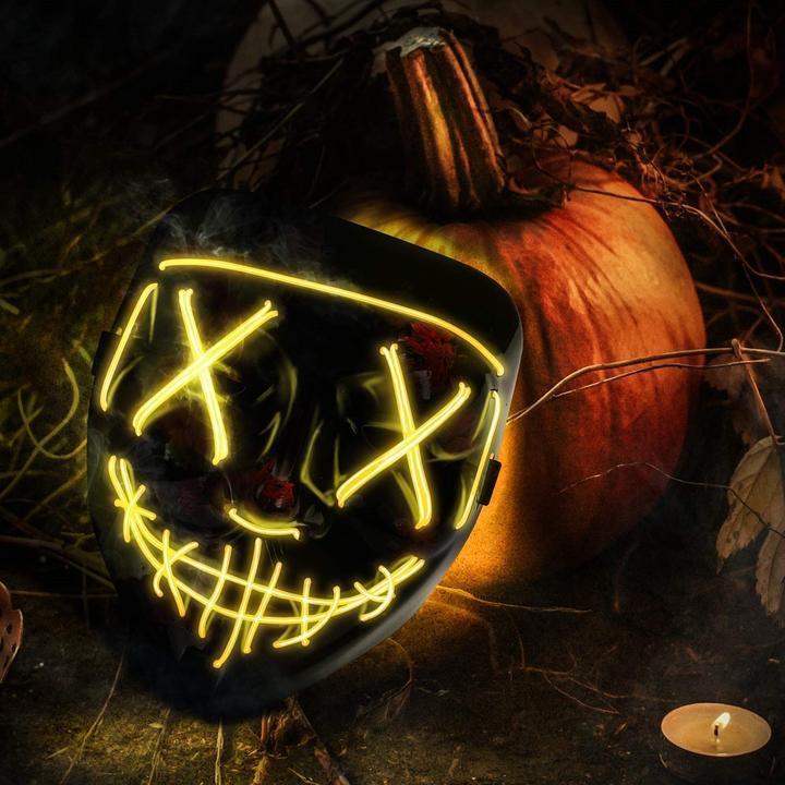 halloween led purge mask yellow