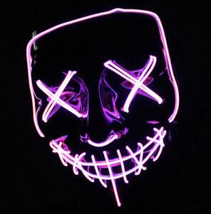 led purge mask that light up purple