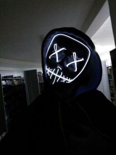 led purge mask white that light up