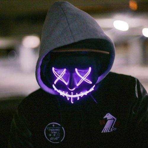led purple purge mask