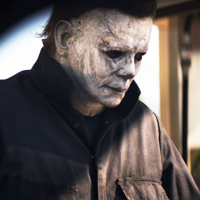 michael myers with his white mask