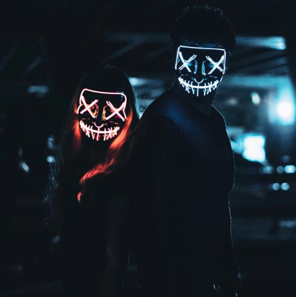 orange led purge mask