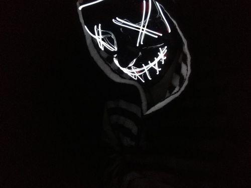purge mask white led that light up