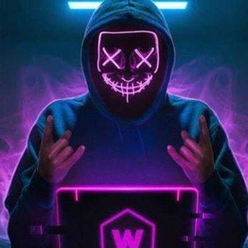 purple led halloween purge mask