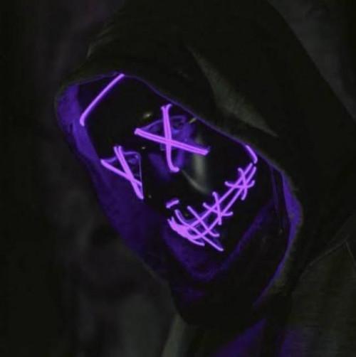 purple led light up mask halloween