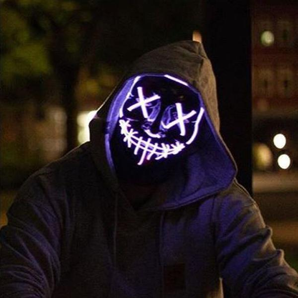 purple led purge mask