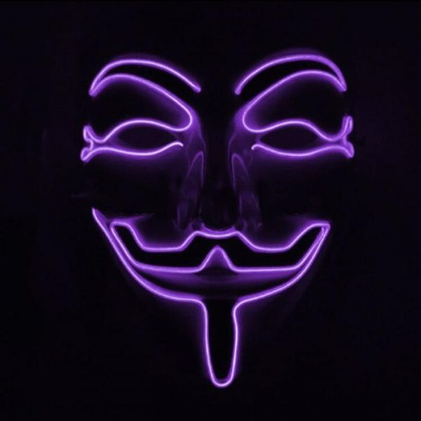 purple v for vendetta led mask