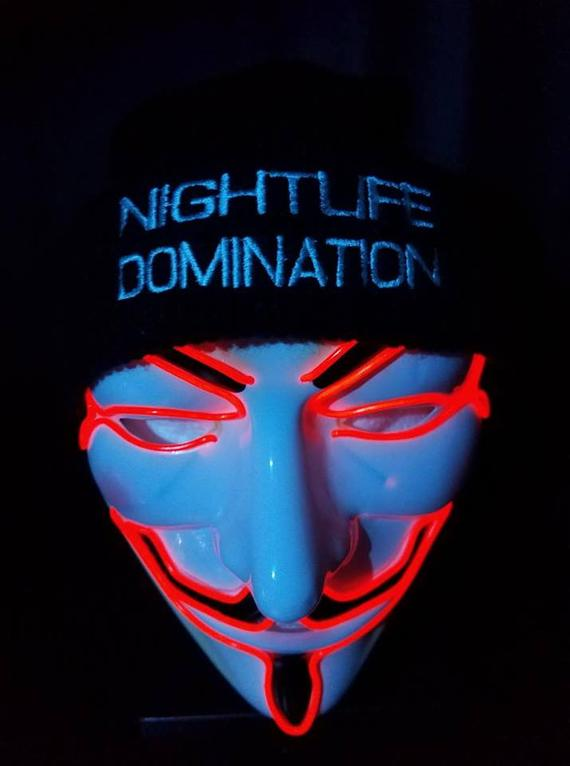 red glow up vendetta mask