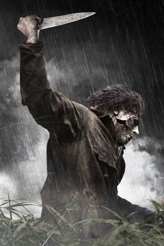 the zombie michael myers with mask