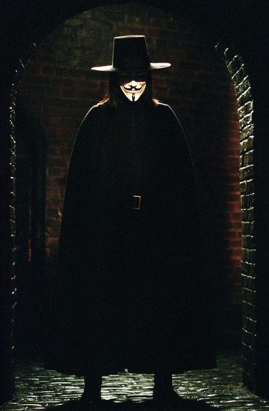 v for vendetta white mask costume