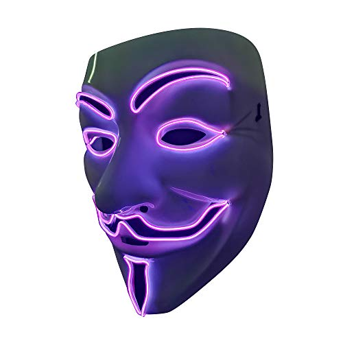 v is for vendetta purple led mask that light up
