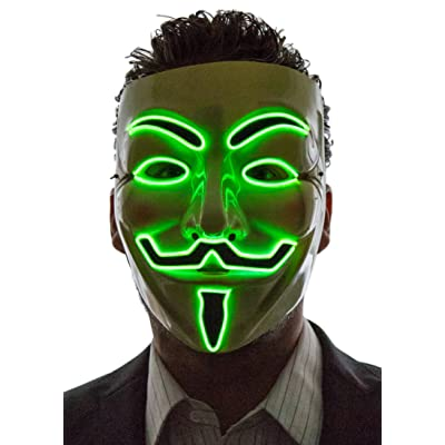 vendetta mask green LED that light up