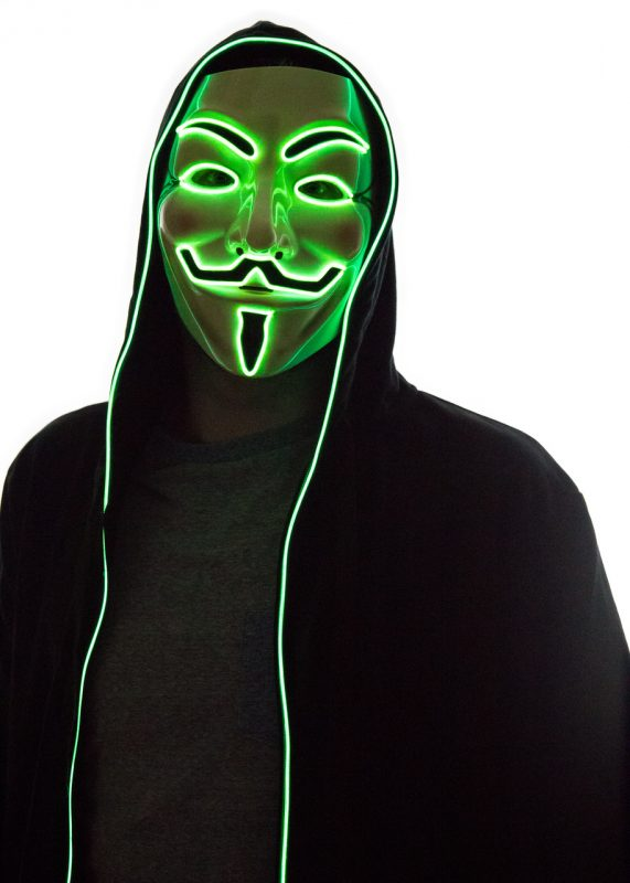 vendetta mask green led