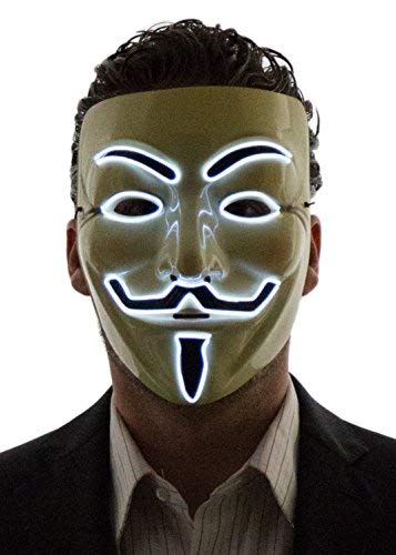 white led v vendetta mask that light up