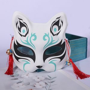 Oni Kitsune Mask Green