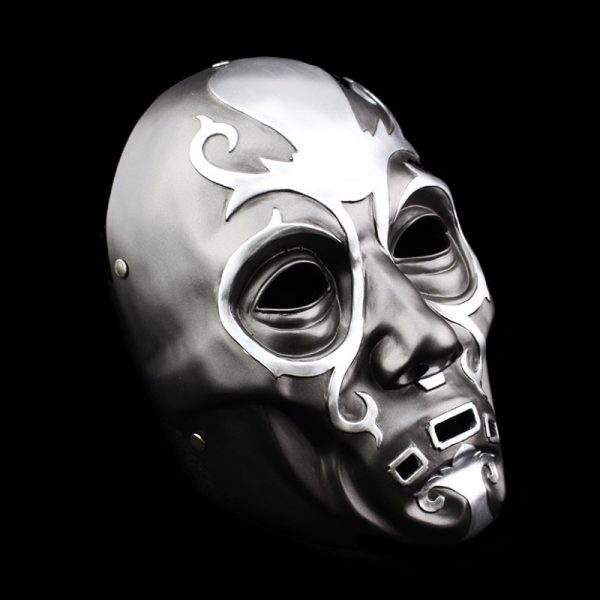 Traditional Oni Mask Full Silver