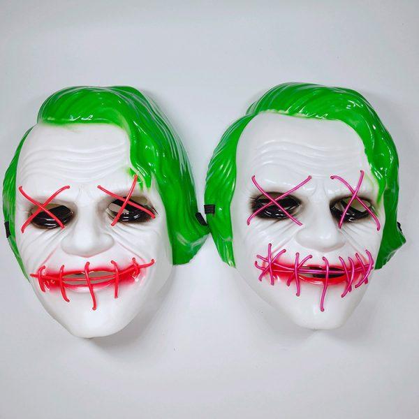 Joker Light Up Mask With LED Neons