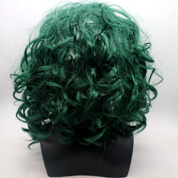 Joker Silicone Mask With Green Hair
