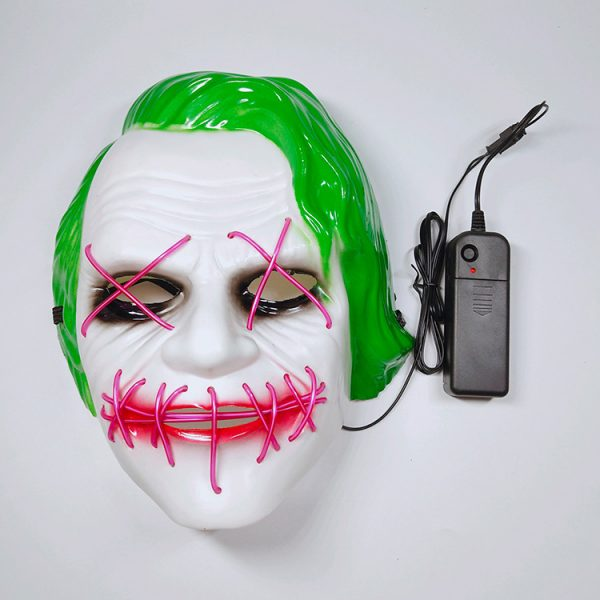 Joker Light Up Mask With LED Neons