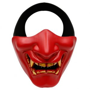 Oni Half Mask Red