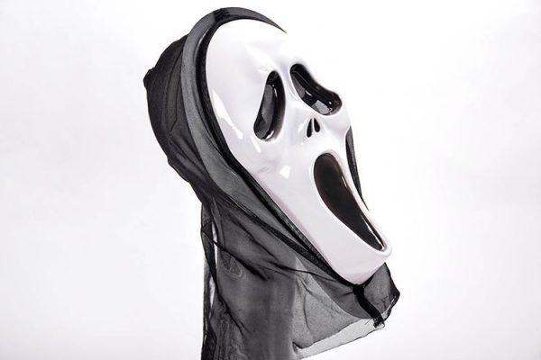 white scream mask