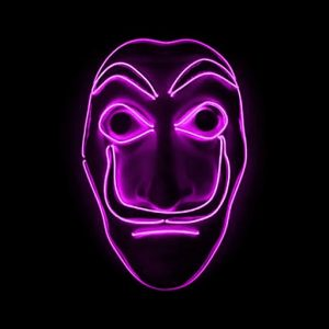 Money Heist Dahli Mask LED Pink