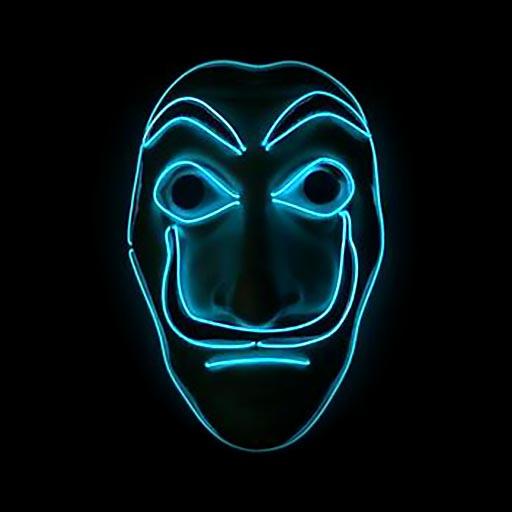 Money Heist Dali Mask LED Blue